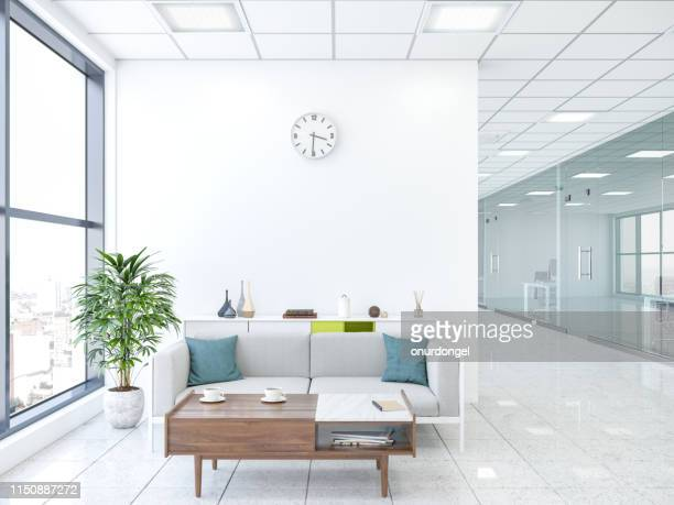 modern office with lobby - waiting room stock pictures, royalty-free photos & images
