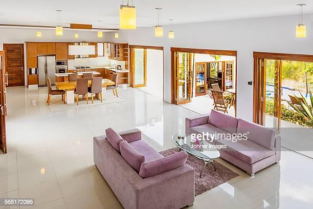 Modern open plan ground floor