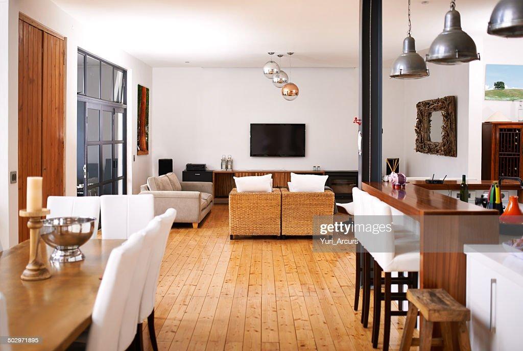 Modern open-plan living : Stock Photo