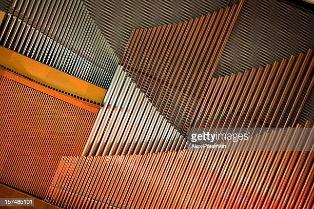 modern organ - metal music stock photos and pictures