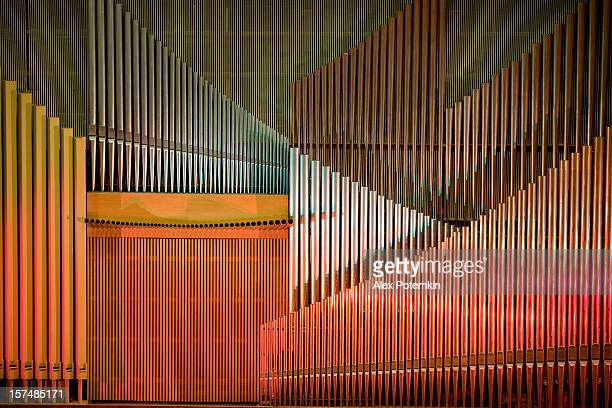 modern organ - music halls stock pictures, royalty-free photos & images