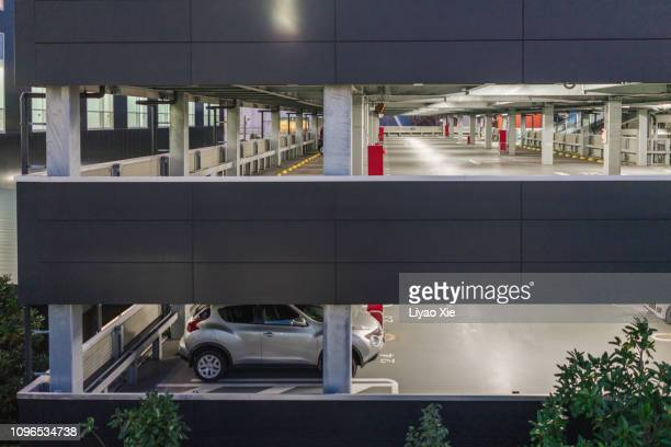 modern parking building - liyao xie stock pictures, royalty-free photos & images