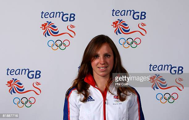 Modern Pentatholon Heather Fell of the British Olympic Team poses for a portrait during the team GB kitting out at the NEC on July 10 2008 in...