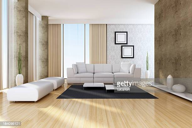 Intérieur moderne appartement-terrasse