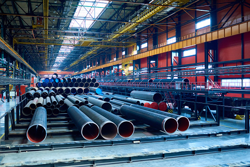 Modern pipe-rolling plant with steel tubes 912174592