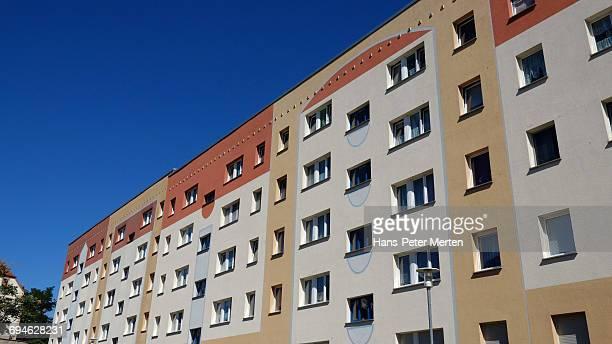 modern Plattenbau, Merseburg, Saxony-Anhalt