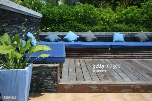 Modern Pool Terrace Sitting Area