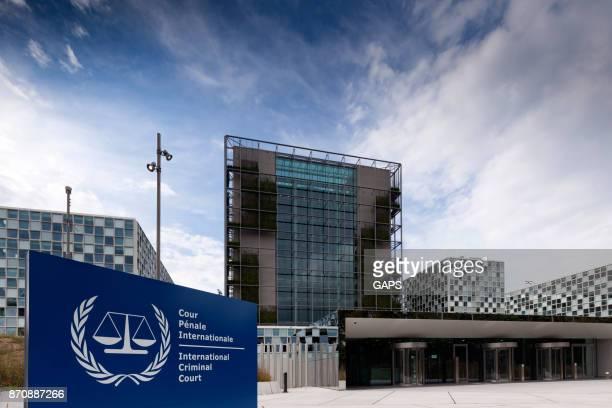 instalações modernas do tribunal penal de haia internacional - haia sul da holanda - fotografias e filmes do acervo