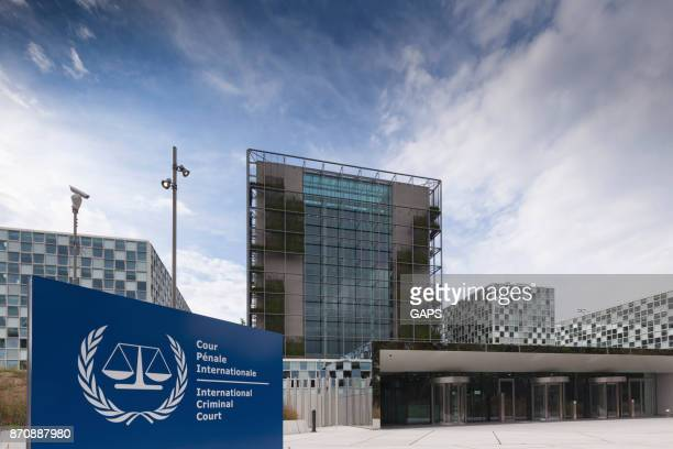 modern premises of the hague's international criminal court - the hague stock photos and pictures
