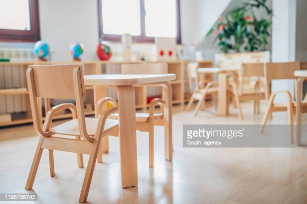 modern preschool classroom - preschool building stock pictures, royalty-free photos & images