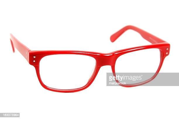 Modern red glasses
