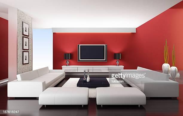 Moderna sala vermelho