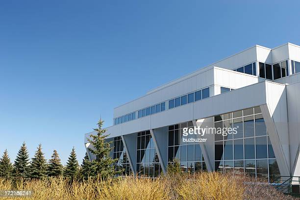 modern research center building - buzbuzzer stock pictures, royalty-free photos & images