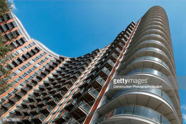 Modern riverside apartments East India East London UK