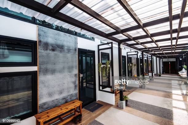 modern rooms for bed and breakfast in thailand - hostel stock pictures, royalty-free photos & images