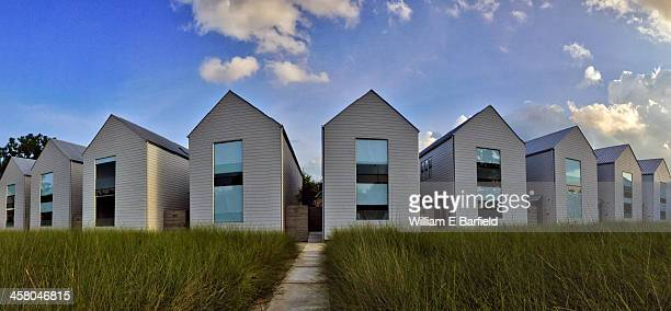CONTENT] Modern row houses in the Heights neighborhood of Houston Texas