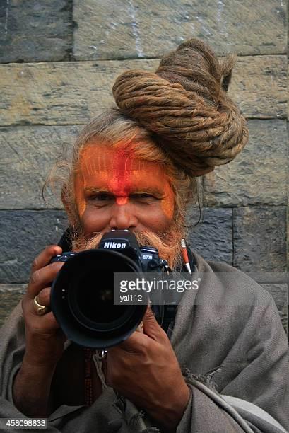 modern sadhu - nikon stock pictures, royalty-free photos & images
