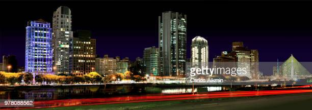 Modern Sao Paulo Skyline - Berrini and Stayed Bridge