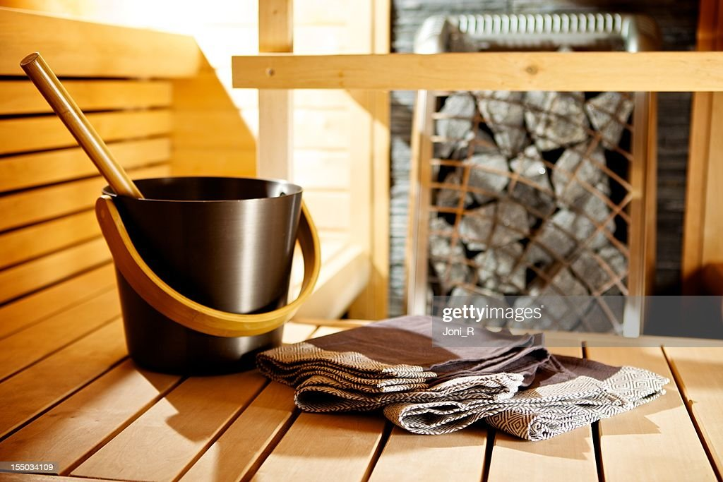 Modern Sauna detail : Stock Photo