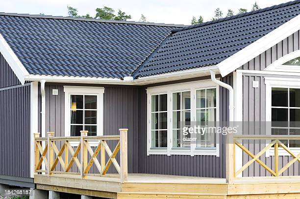 modern scandinavian style villa - new stock pictures, royalty-free photos & images