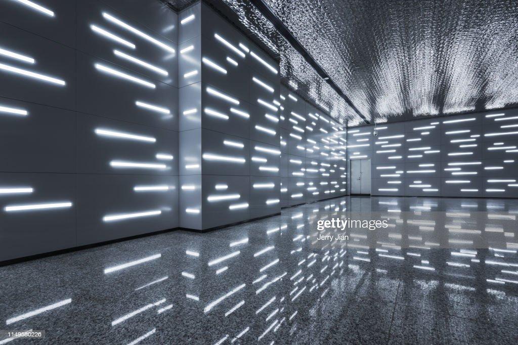 Modern Scientific Architectural Interior Space Light ...