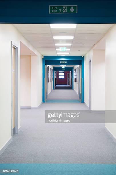 Modern secondary school corridor