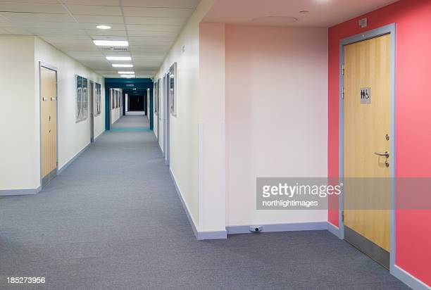 Modern secondary school corridor