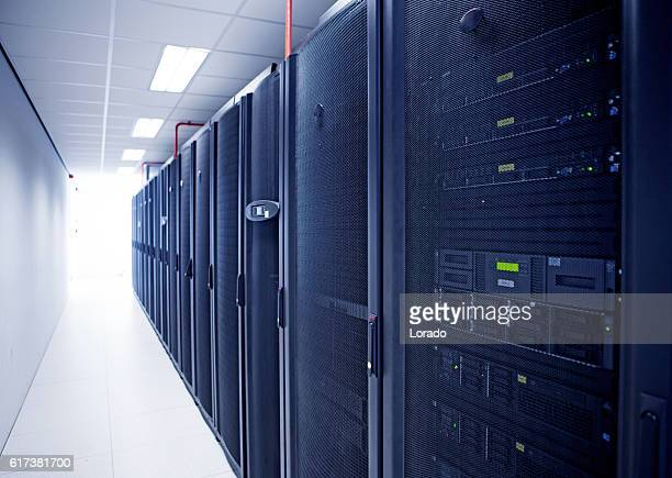 modern server room view - data center stock pictures, royalty-free photos & images
