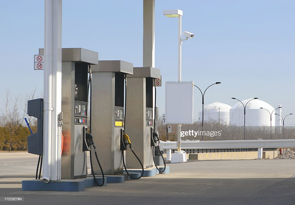 Modern Service Station Pumps : Stock Photo