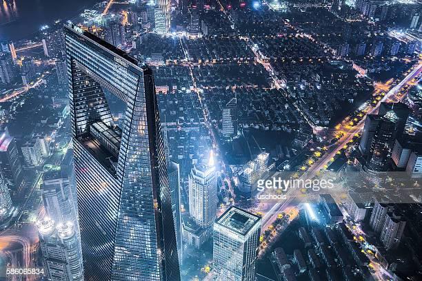 modern shanghai  - shanghai world financial center - fotografias e filmes do acervo