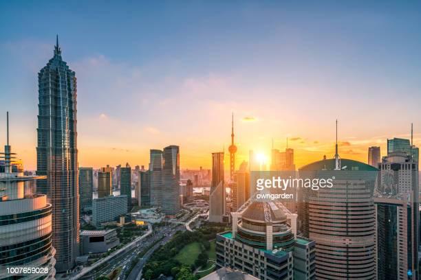 Moderne Shanghai Skyline