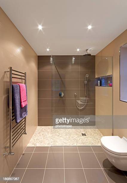 modern shower area in a luxury new home