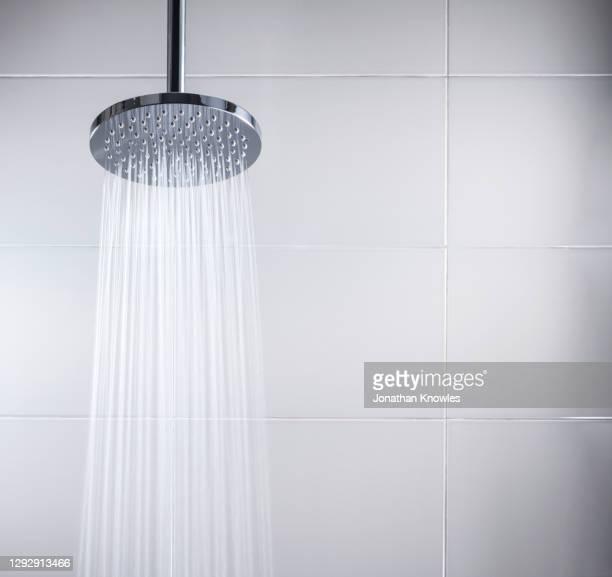 modern shower head - シャワー ストックフォトと画像