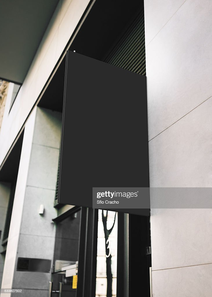 Modern signboard on the wall : Foto stock