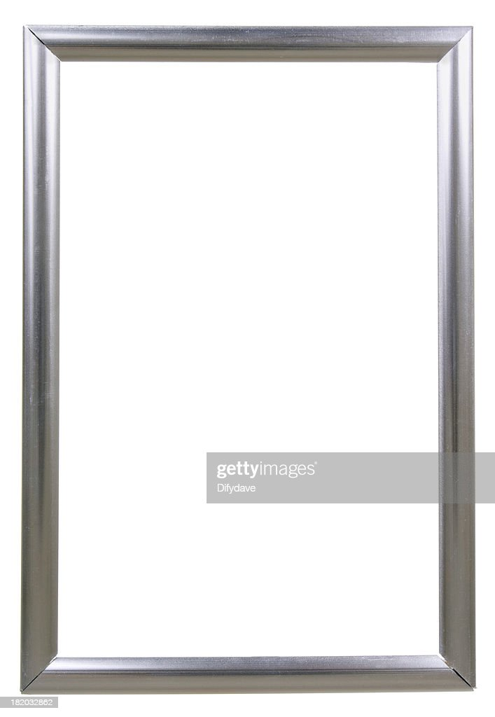 Modern Silver Photo Frame Isolated On White Stock Photo | Getty Images