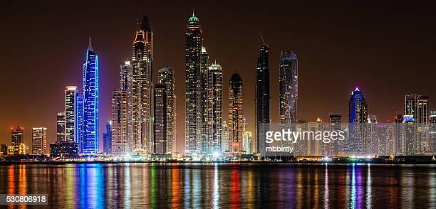 Modern skycrapers in Dubai marina, United Arab Emirates