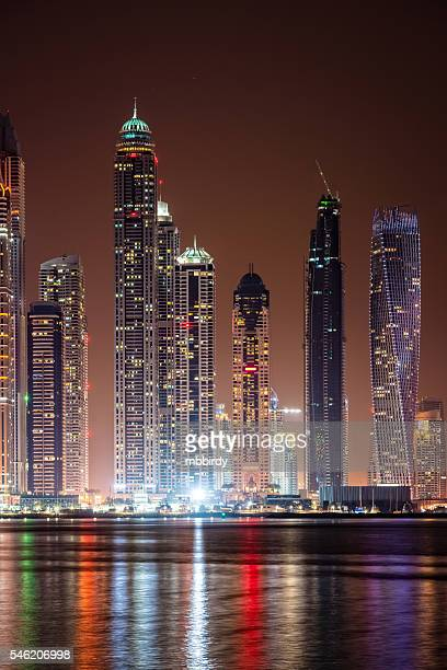 Modern skycrapers in Dubai marina, United Arab Emirates