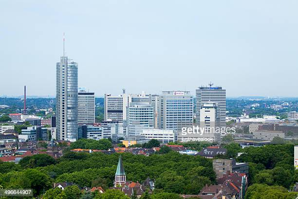 modern skyline of essen - ruhr stock pictures, royalty-free photos & images