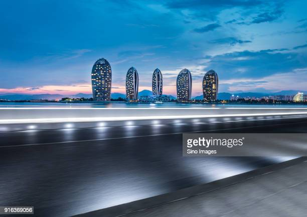 Modern skyscrapers at Phoenix Island, Sanya, Hainan Province, China
