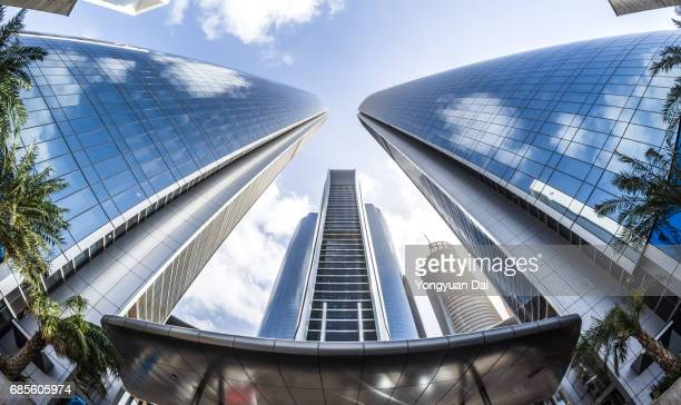 modern skyscrapers in abu dhabi - abu dhabi stock pictures, royalty-free photos & images