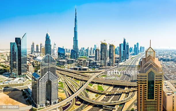 Modern skyscrapers in Downtown Dubai, Dubai, United Arab Emirate