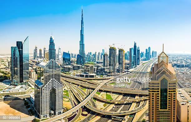 Modernos rascacielos en la ciudad de Dubai, Dubai, Unidos de América Árabe Emirato