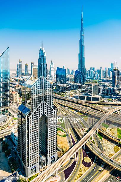 Modern skyscrapers in Downtown Dubai, Dubai, United Arab Emirate
