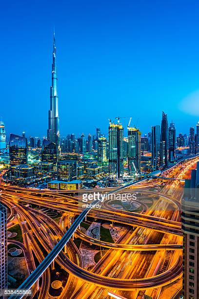modern skyscrapers in downtown dubai, dubai, united arab emirates - united arab emirates stock pictures, royalty-free photos & images