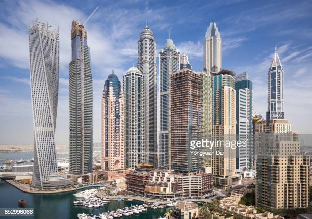 Modern Skyscrapers in Dubai Marina