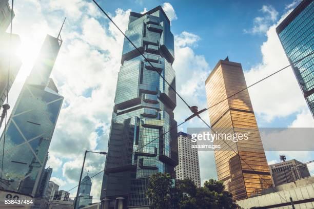 modern skyscrapers in Hong Kong,China