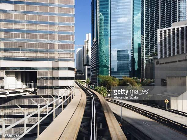 Modern skyscrapers in Miami Downtown, Florida, USA