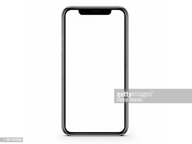 modern smartphone mockup isolated white background