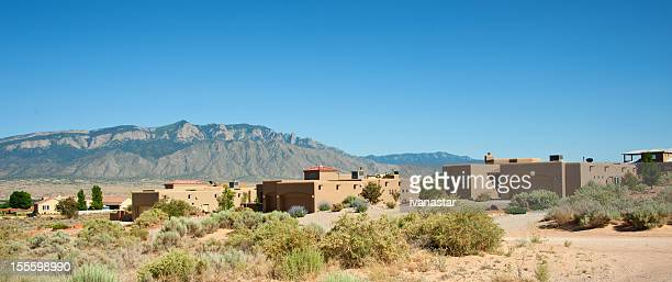 Modern Southwest Adobe Houses in Rio Rancho, New Mexico