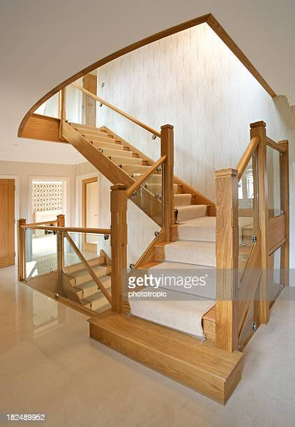 Modern staircase in a luxury new home